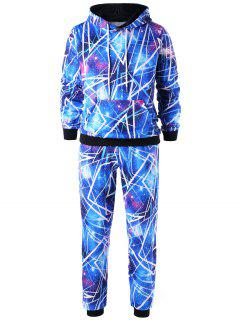Galaxy Hoodie With Jogger Pants - Blue 2xl