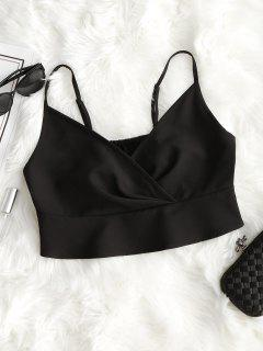 Ruffles Crop Cami Top - Black L