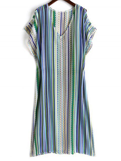 sale Dotted Chiffon Kaftan Dress - COLORMIX ONE SIZE Mobile