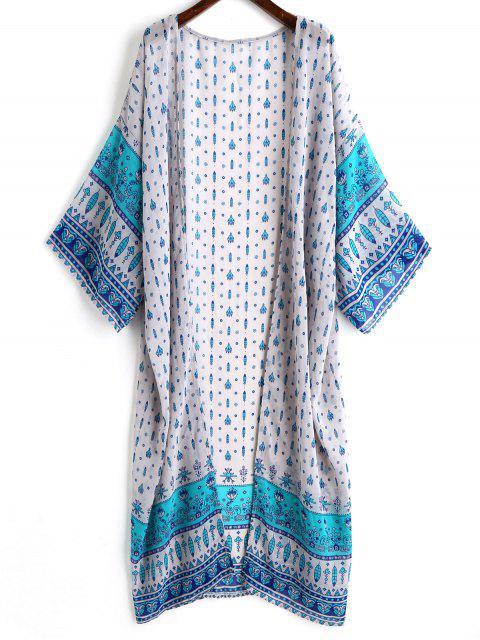 Kimono impreso de la gasa - Colores Mezclados Única Talla Mobile