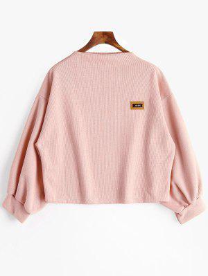 Abzeichen Patch Laterne Ärmel Plus Größe Sweatshirt