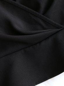 De Ruffles De Negro Cosecha Top M De Camisa 8nXx7xwH4