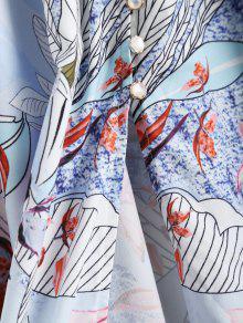 Botones Con De Maxi Vestido Floral En El Panel S Encaje Floral 7f6Wqwg
