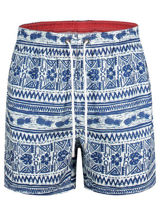 Troncos de natación impresos piña - Azul L