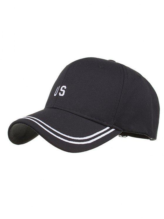4b502676660 Unique US Embroidery Adjustable Baseball Cap BLACK  Hats