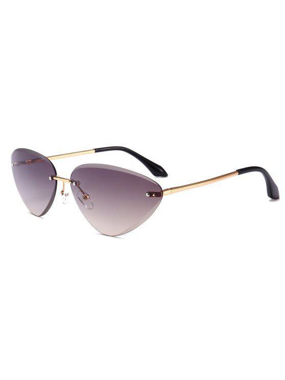 new Anti Fatigue Cat Eye Frameless Sunglasses - LIGHT GRAY