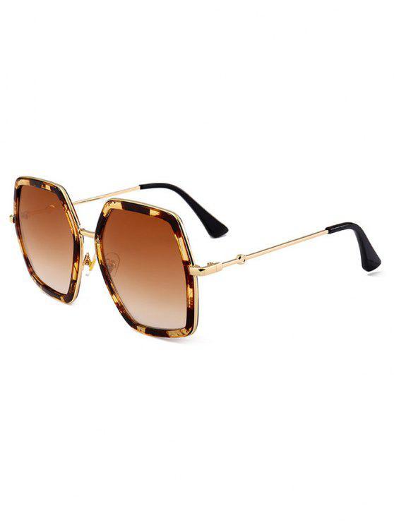 Óculos de sol de tamanho grande embellished - Leopardo + Marrom Escuro