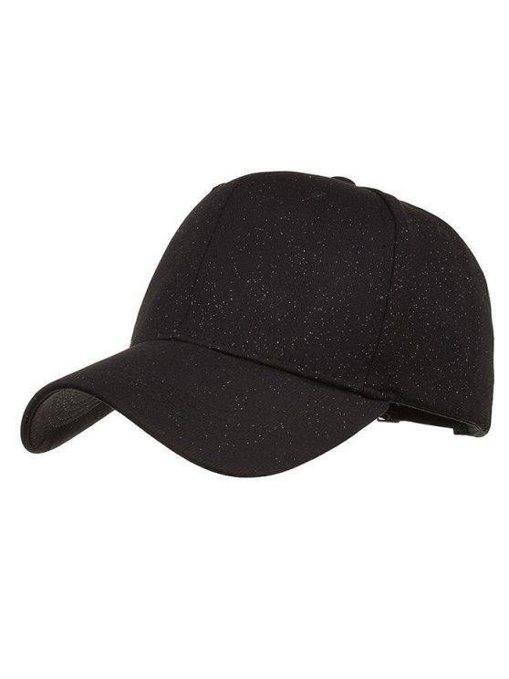 قبعة مزينة بخطوط - أسود