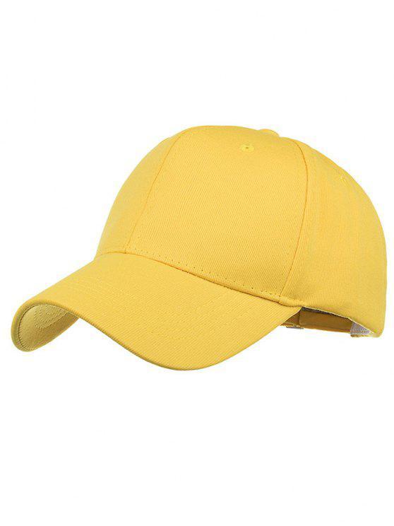 Sombrero snapback ajustable de bordado simple - Amarillo
