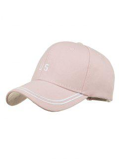 Unique US Embroidery Adjustable Baseball Cap - Pink