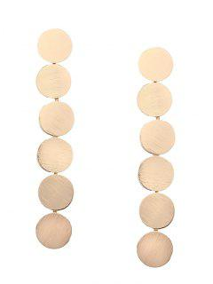 Round Disc Layered Earrings - Golden