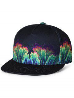 Jungle Pattern Decorated Flat Brim Baseball Cap - Green
