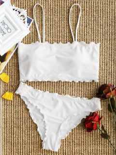 Volant Trim Cami Bikini Set - Weiß S