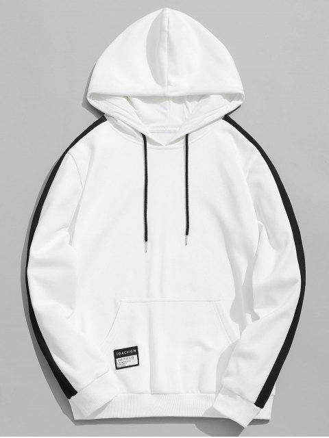 Chaqueta Patched Color Block Hoodie - Blanco 4XL Mobile