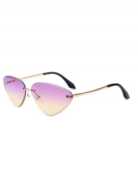 Anti-Ermüdung Cat Eye Rahmenlose Sonnenbrille - Lila  Mobile