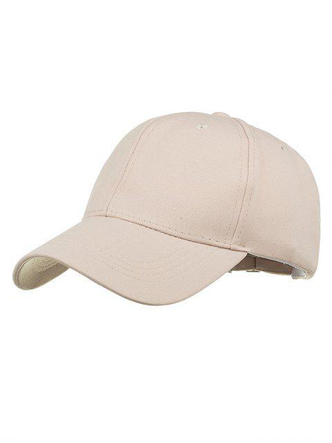 Sombrero snapback ajustable de bordado simple - Beige  Mobile
