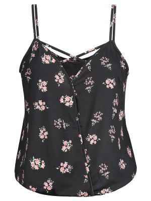 Überkreuzter Blumen Plus Size Camis