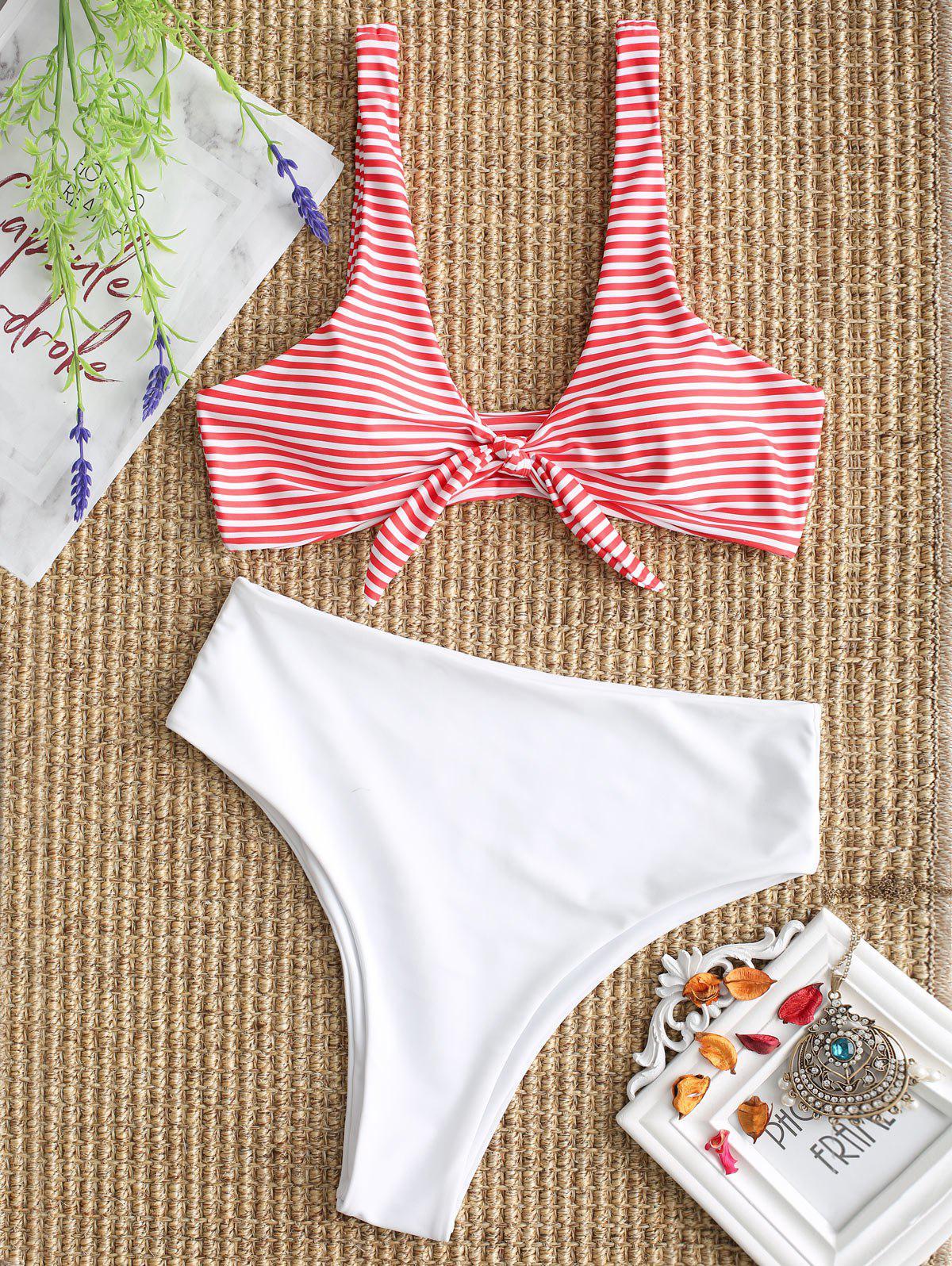 Knotted Striped Bikini