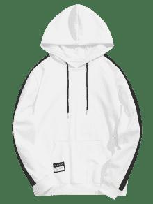 Block Blanco 4xl Patched Color Hoodie Chaqueta vqEZwF