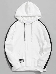 Blanco Chaqueta Block Color Patched Hoodie 4xl PqqBfIw