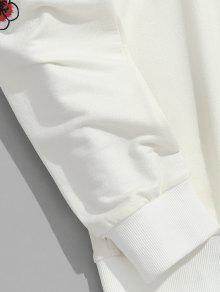 De Cristal L Plum Sweatshirt Blossom Crema Bordado xqwZ4pnT
