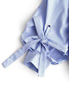 581a2c359 28% OFF  2019 Blusa De Cami Verificada No Ombro Frio Com Azul Claro ...
