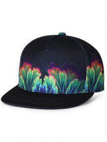 نمط الغابة مزينة شقة بريم قبعة بيسبول - أخضر