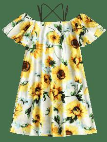 Beach Amarillo Cami Print Dress Sunflower L xwvZqAva