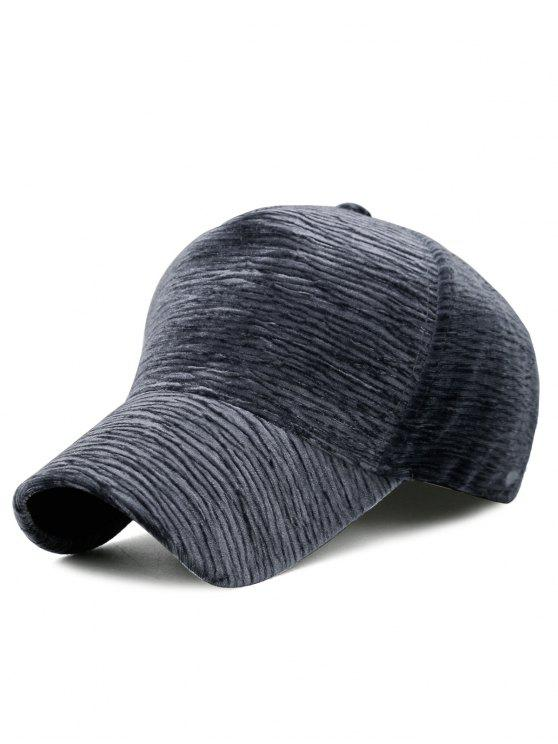 outfit Unique Solid Color Striped Pattern Baseball Cap - GRAY
