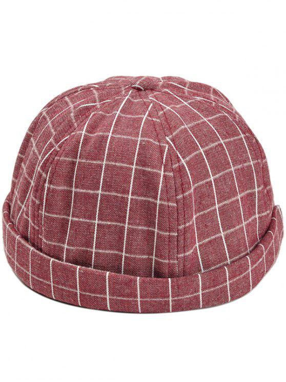 shop Vintage Checked Pattern Embellished Beret - RED