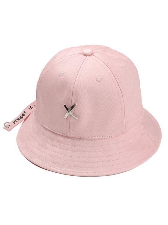 688dcc9a57313 25% OFF  2019 Metal X Pattern Ajustável Bucket Hat Com Rosa