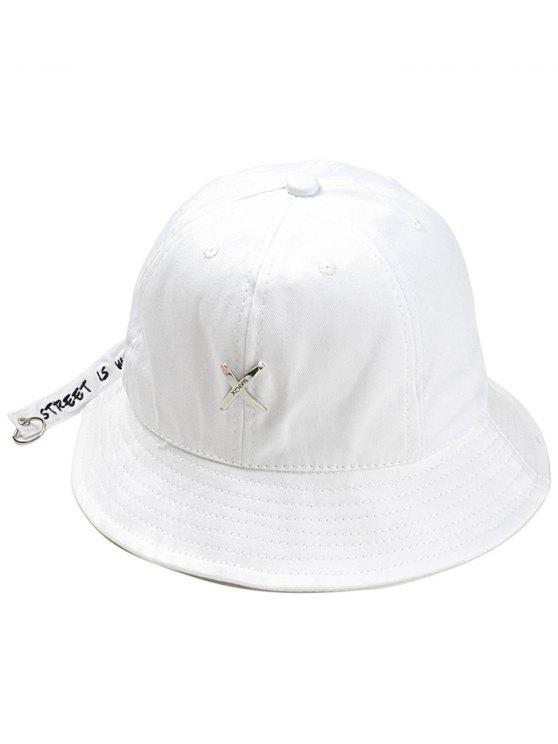 2019 Metal X Pattern Adjustable Bucket Hat In WHITE  4fcd49de23f