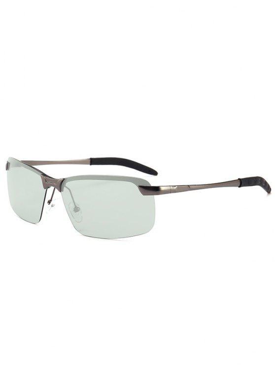 b8645ba56f 6% OFF  2019 Rectangular Shaped Frameless Sunglasses In GUN GREY ...