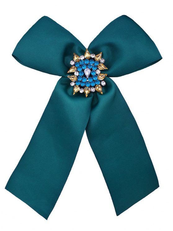 Diamante Bowknot Corsage Broche - Vert