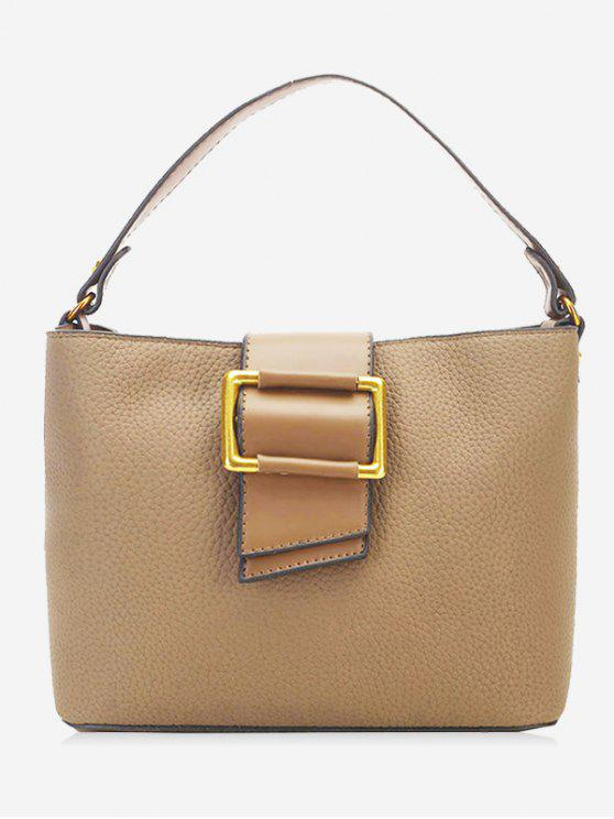 Bolsa Faux Leather Buckled - Caqui