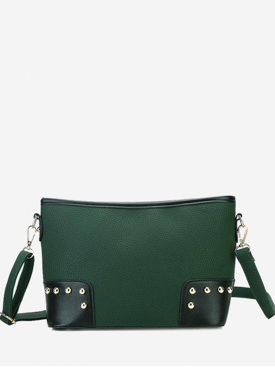 Bolsa Crossbody de color contrastante - Verde