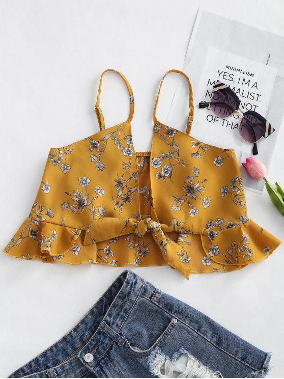 الصدريةالأزهار طباعةمكشكشة ربط كامي - ترابي XL