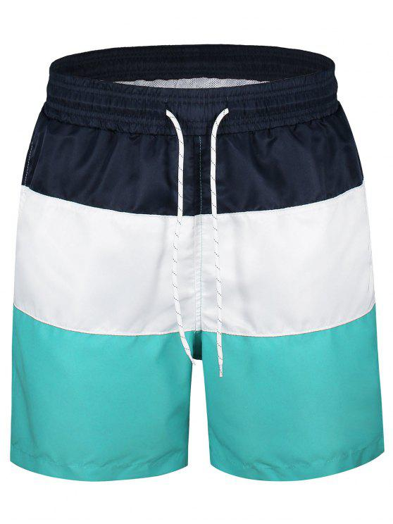 outfit Color Block Board Shorts - MULTICOLOR 2XL