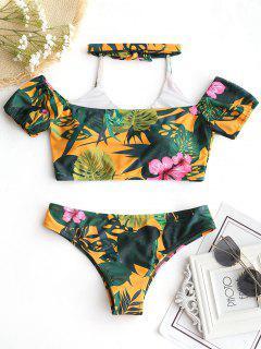 Halfter Blumen Enge Hintern Bikini Set - Blumen S