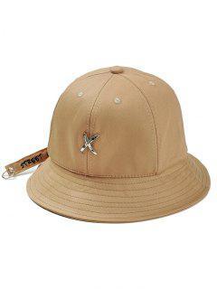 Metal X Pattern Adjustable Bucket Hat - Khaki