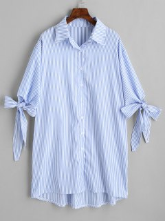 Chemise Longue Haute-Bas à Rayures - Rayure M