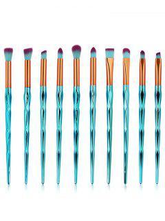 Set De Pinceles De Maquillaje De 10 Oz Para Cabello Ultra Fino De Fibra De Zircon - Verde