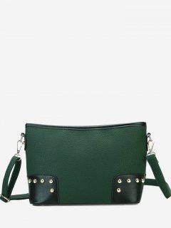 Minimalist Studs Crossbody Bag - Green