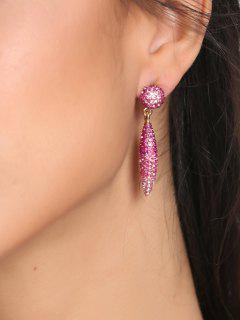 Pendientes Con Forma De Bola De Diamantes De Imitación De San Valentín - Papaya