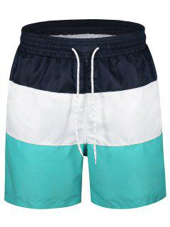 Color Block Board Shorts - Multicolor L