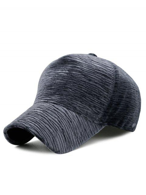 outfit Unique Solid Color Striped Pattern Baseball Cap - GRAY  Mobile