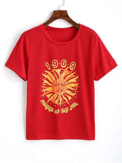Haut Imprimé Logo en Coton - Rouge S Mobile