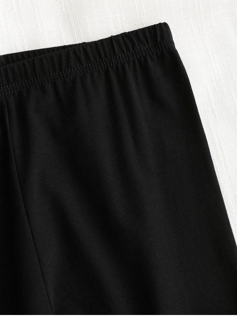 sale High Waisted Letter Leggings - BLACK M Mobile