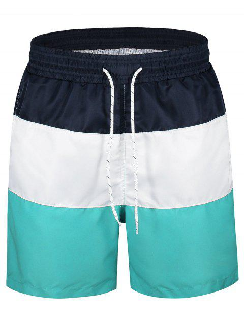 shop Color Block Board Shorts - MULTICOLOR L Mobile