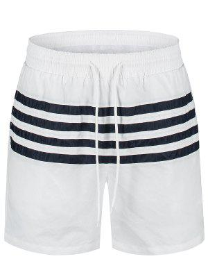 Striped Beach Board Shorts